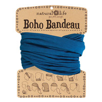 Boho Bandeau in Solid Teal by Natural Life