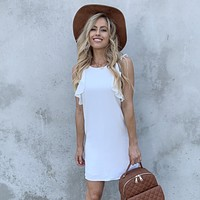 To Be In Love White Shift Dress