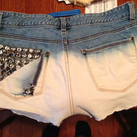 Studded  Dip Dyed Shorts by ShortScore on Etsy