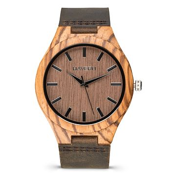The Olympic Zebrawood | Set of 8 Groomsmen Wood Watches