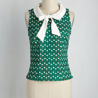 A Fresh Cup of Brava Top in Abstract Bouquet | Mod Retro Vintage Short Sleeve Shirts | ModCloth.com