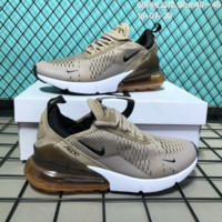 KUYOU N132 Nike Wmns Air Max 270 Flyknit Crystal Particle Cushion Causal Running Shoes Mroon