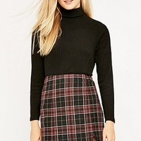 Urban Outfitters Notch Hem Check Skirt - Urban Outfitters