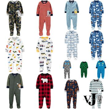 Carters Baby Boys Fleece Footed Pajamas Various Sizes, Colors