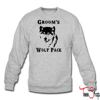 Groom's Wolf Pack crewneck sweatshirt
