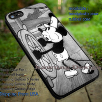 Mickey Mouse Retro Steamboat Willie Black White iPhone 6s 6 6s+ 5c 5s Cases Samsung Galaxy s5 s6 Edge+ NOTE 5 4 3 #cartoon #animated #disney #MickeyMouse dt