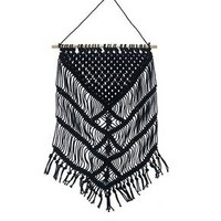"Macrame Wall Hanging Black (16""x 28"") - Black - Threshold™"