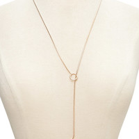 Open Circle Lariat Necklace
