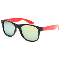 Blue Crown Classic Sunglasses Black/Red One Size For Men 25653112601