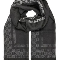 ICIK3SY Versace Collection Black Ombre Scarf