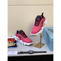 prada men fashion boots fashionable casual leather breathable sneakers running shoes 116