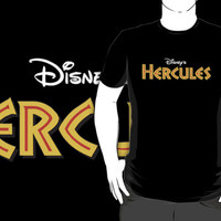 disney hercules logo black t-shirt