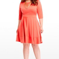 Plus Size Sherry Flare Dress | Fashion To Figure