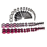 Taper Kit 14G-00G, 36 Pairs of Tunnels and Tapers Underwater and Glow in the Dark Plugs - 72 Pieces