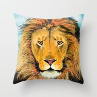 Lion Throw Pillow by Keith Gammeter