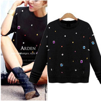 Autumn Women Extra Plus Size Loose Sweatshirt a13118