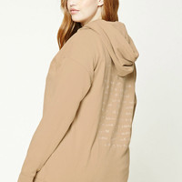 Plus Size Embroidered Hoodie