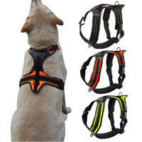 Nylon Front Range No-Pull Dog Harness Reflective Outdoor Adventure Pet Vest with Handle For Medium Large Dog Pitbull
