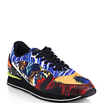 KENZO - Printed Lace-Up Sneakers - Saks Fifth Avenue Mobile