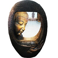 Sitting Room Humidifier Buddha Waterscape Water Fountain