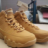 Bes Deal Online Nike Air Jordan Retro 9 Wheat Men Sneakers Fashion Basketball Sports Shoes
