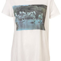 Running Horses Tee By Exposure - Jersey Tops  - Clothing  - Topshop