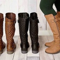 WOMENS KNEE HIGH RIDING BOOTS