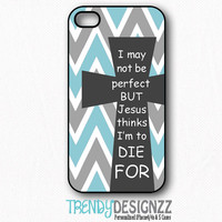 iPhone case, Samsung S3 S4, Cross Quote iPhone 4 case, iPhone 5 case, iPhone 4s cover, Gray Blue Chevron Zigzag Cover, Christian (1233)