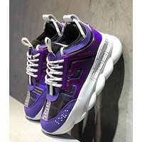 Versace Chain Reaction Sneakers - Purple #3036
