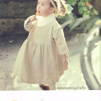 Easy Sewing Kawaii Dress, Naoko Horie - Japanese Sewing Pattern Book for Girl Clothing, Sewing Tutorial, Instructions, Skirt, Vest - B1578