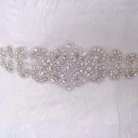 "Bridal sash wedding belt sash belt rhinestone wedding belt sash ""Ana"