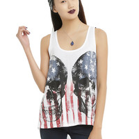 Skull Americana Girls Hi-Low Tank Top