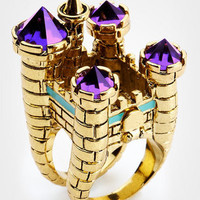 Disney Couture Cocktail Ring | Disney Couture Castle Ring | fredflare.com