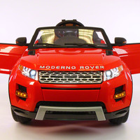 Range Rover Style 12V Kids Ride-On Car USB MP3+MP4 Battery Powered LED Wheels RC Remote   Bright Red