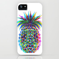 Pineapple CMYK iPhone & iPod Case by Schatzi Brown