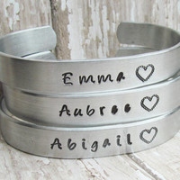 SET of 2 Bracelet Personalized Hand Stamped Jewelry Cuff Bracelets I Couldn't Say I Do Without You Wedding Party Bridesmaid Gift Engagement