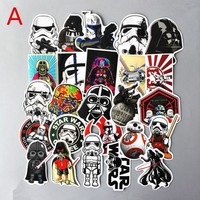 ONETOW 25Pcs/Set Star wars Waterproof Funny Stickers For Luggage Laptop Phone Case Decal Sticker