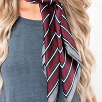 Everything You Need Scarf (Burgundy Stripe)