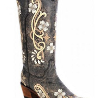 Women's Circle G by Corral Multi Color Floral Embroidery Boots