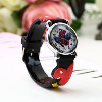 Spider Man Marvel Cartoon Child Boys Kids Analog Quartz Wrist Watch Rubber