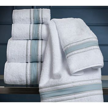 Parallele Embroidered Bath Towels by Dea Linens