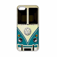 Vintage Blue VW Volkswagen Bus Hard Case Cover for  iPhone