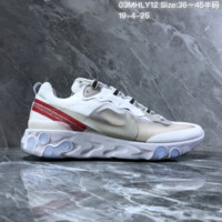 HCXX N1475 Nike Epic React Element 87-Undercover Mesh Fashion Running Shoes White Red
