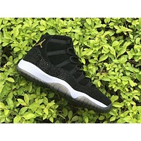 Air Jordan 11 Retro Black Stingray AJ11 PRM Heiress Sneakers