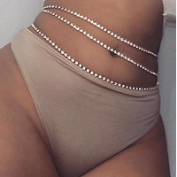 Sequins Belly Waist Chain Body Jewelry Women Sexy Bikini Beach Body Chain Vintage Paillette Charm Body Chain Jewelry