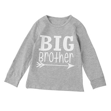 "Toddler Boys ""Big Brother"" Long Sleeve T-Shirt"
