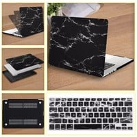 Mosiso For Macbook Pro 13 13.3 Black Marble Shell Case For Mac Book Air 13 13.3 Protective Cover + silicone Keyboard Protector