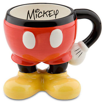 Disney Parks Ceramic Best of Mickey Mouse Body Parts Pants Coffee Mug