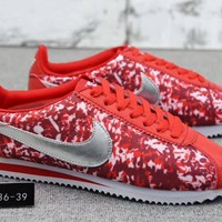 """Nike Classic Cortez Nylon Prm"" Women Sport Casual Multicolor Fashion Running Shoes Sneakers"