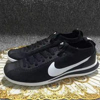 Nike Cortez Flyknit Running Shoes Black White